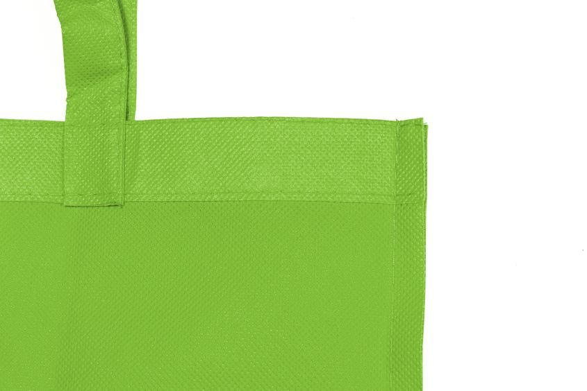 Detalle bolsa non woven verde manzana