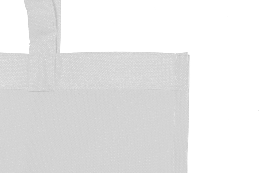 Detalle bolsa non woven blanco