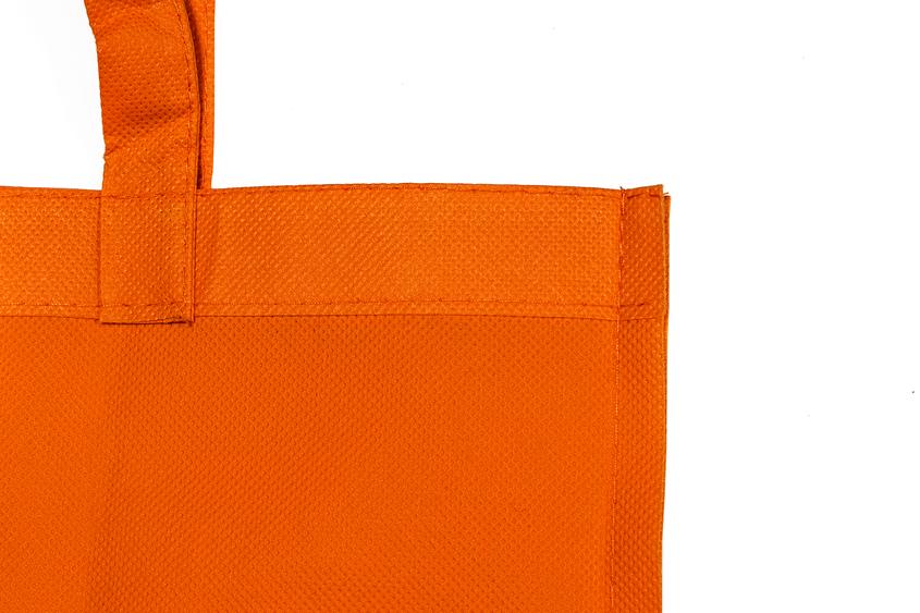 Detalle bolsa non woven naranja