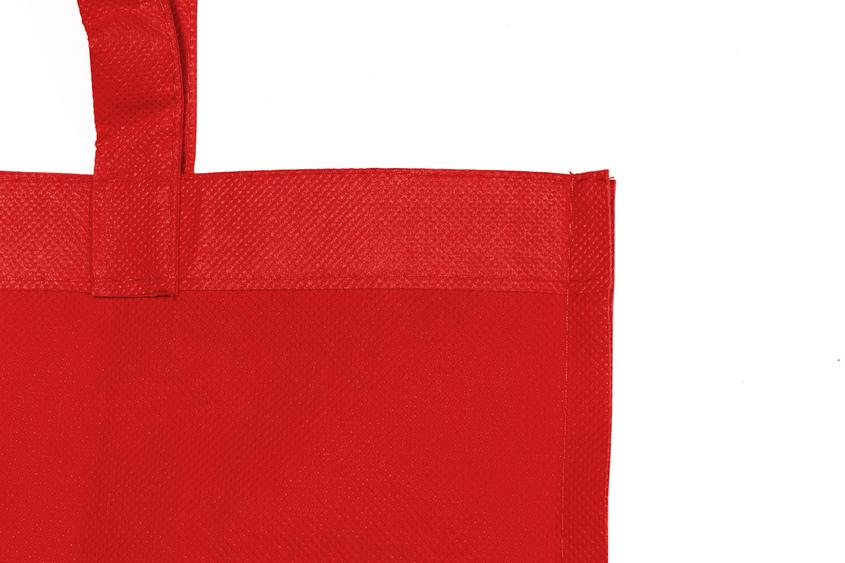 Detalle bolsa non woven rojo
