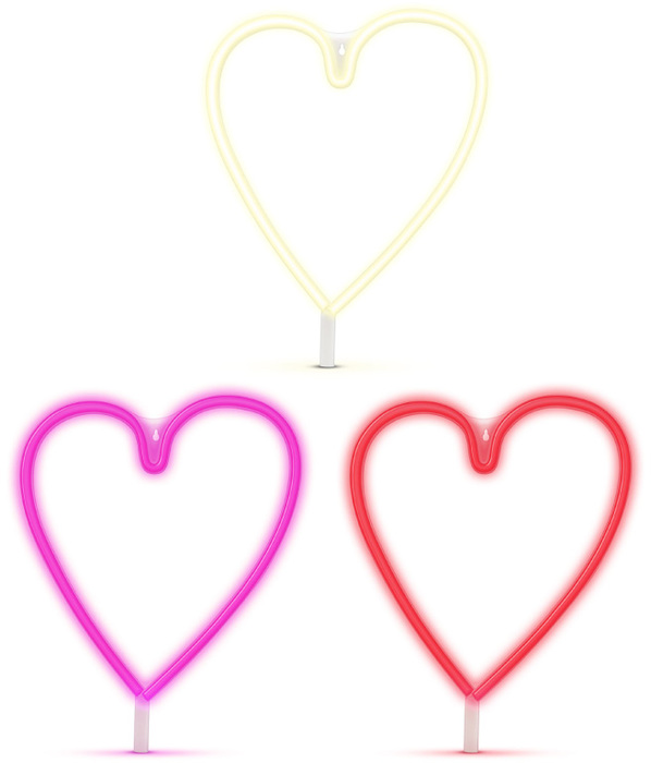 G206 neon corazon colores gato