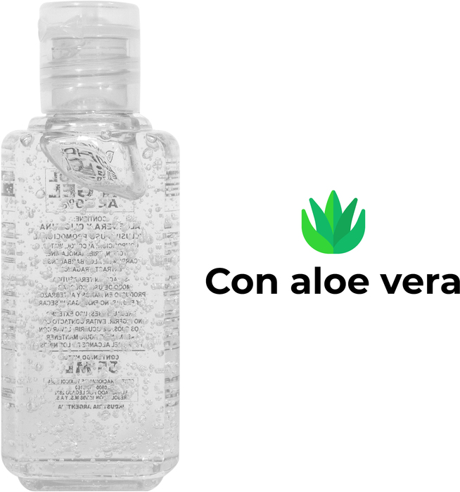Alcohol gel aloe