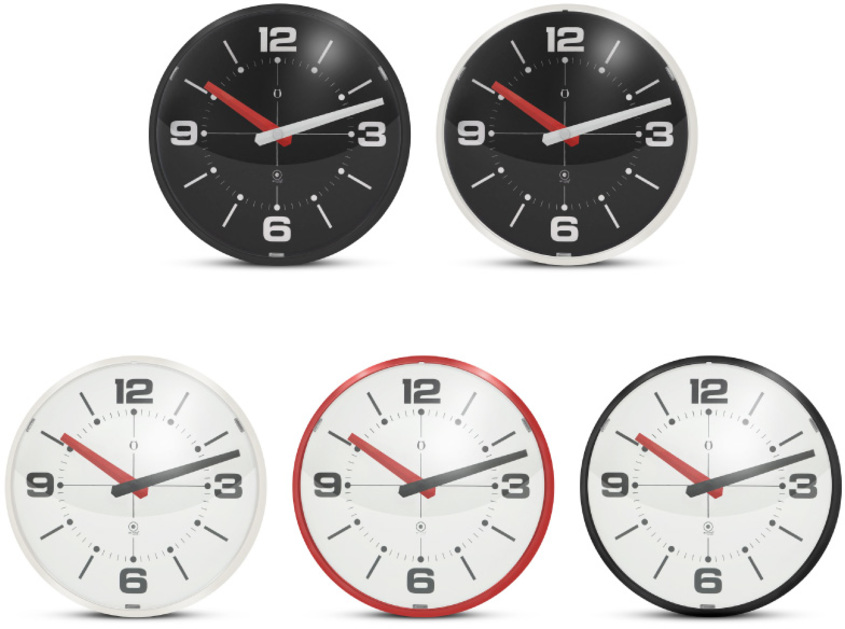G122 ball wall clock colores gato