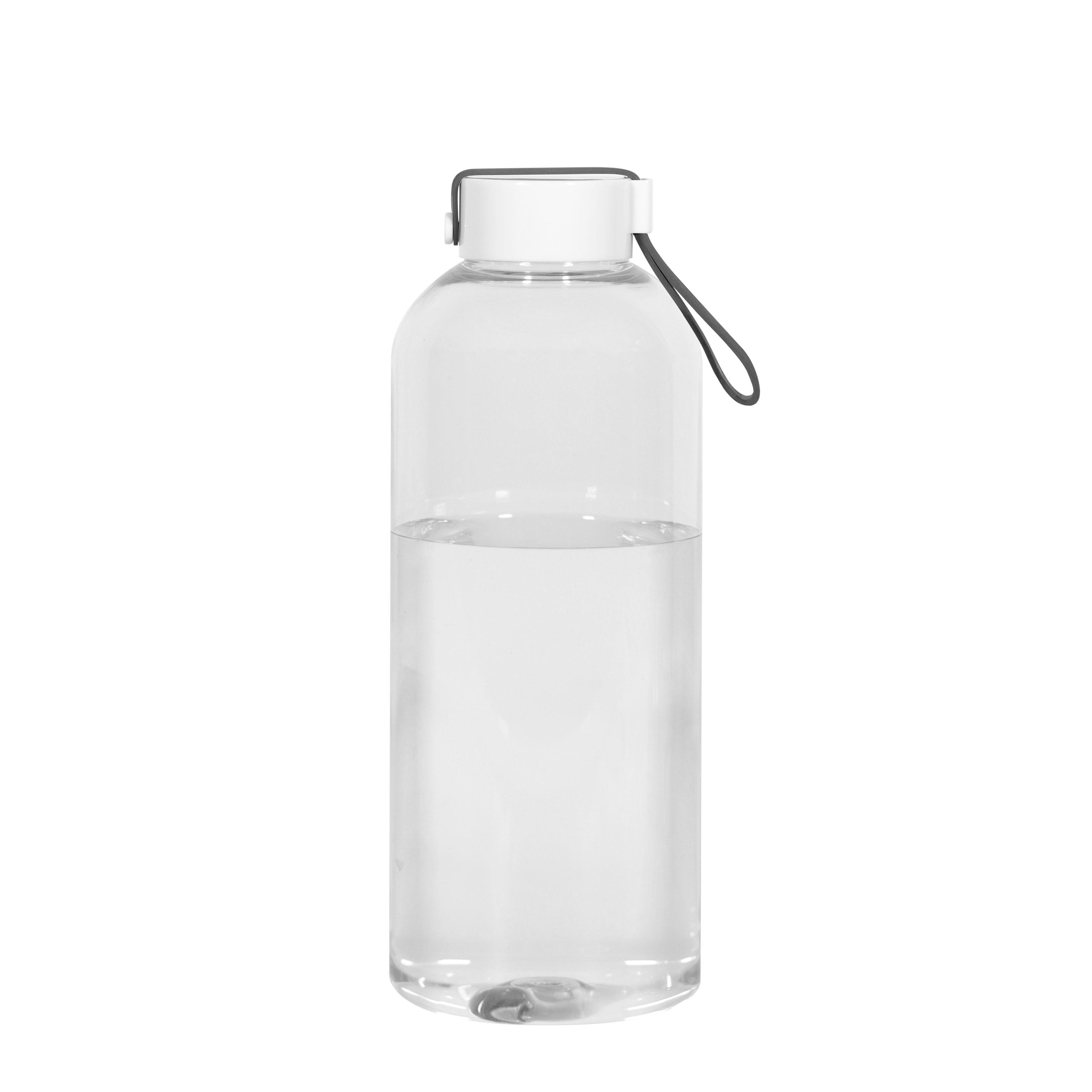 Botella con tapa y tira de silicona